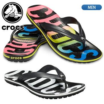 【あす楽対応】クロックス【crocs】クロックバンド プリンテッド フリップ メンズ 205943 国内正規品