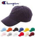 キャップ チャンピオン Champion 定番 ローキャップ WASHED CAP 帽子 メンズ レディース フリーサイズ 無地 USモデル シンプル ワークキャップ カジュアル ウォッシュ加工 丈夫 ストラップバックキャップ アウトドア