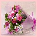 【ピンク】【誕生日】記念日・御祝!ピンク系(バラ・ガーベラ入り)花束【送料無料】【あす楽関東】