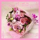 【ピンク】【誕生日】新作ピンク系ブーケ花束(バラ・ガーベラ入り)【送料】【あす楽関東】誕生日・御祝に
