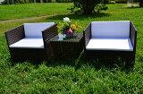 ガーデンファニチャーラタン調サイドテーブルソファ3点セットset365