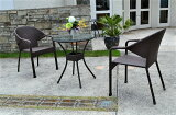 ガーデンファニチャーラタン調テーブルチェア3点セットset375