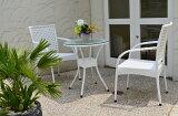 ガーデンファニチャーラタン調テーブルチェア3点セットset376