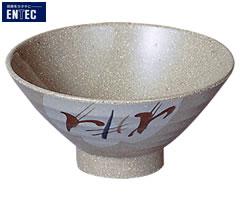 エンテック/ENTEC 雪ん子 飯椀(身) YK-4A (日本製・国産・メラミン食器・和食器・飯碗・茶碗・千羽鶴印)