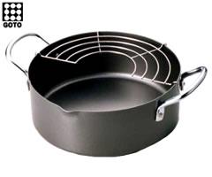 お弁当のおかず用や小人数のご家庭向けに、サッと手軽に揚げられる20cmの「揚げもの鍋」!後藤...