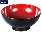 エンテック/ENTEC 内朱汁椀 M-16 (日本製・国産・メラミン食器・和食器・千羽鶴印)