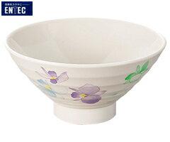 エンテック/ENTEC すみれ 飯椀(身) VO-4 (日本製・国産・メラミン食器・和食器・飯碗・茶碗・千羽鶴印)