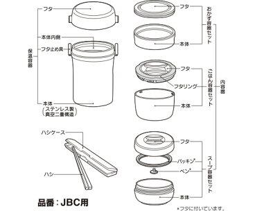 【JBCフタリング】 部品 B-004445 (サーモス/THERMOS ステンレスランチジャー「お弁当箱」用部品・mb1701)
