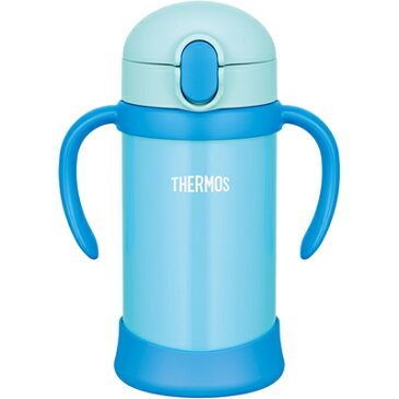 サーモス/THERMOS まほうびんのベビーストローマグ FHV-350 ブルー (水筒・魔法瓶・ストロー付き)