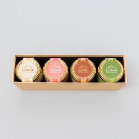 ギフトLucolletルコレ豆乳プリン4個入りアソートセット(プレーン・いちご・チョコ・抹茶)、豆乳プリン、プリン
