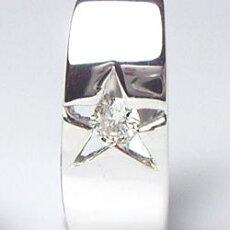 【送料無料】K18ホワイトゴールド×ダイヤモンド0.04ct『LeMeilleurdiaStar』中折れフープスターピアス