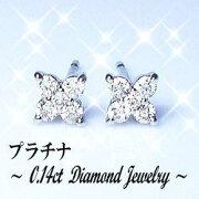プラチナ ダイヤモンドフラワーピアス ダイヤモンド