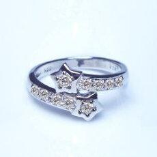 【新作お試し価格☆】高価プラチナ☆最高級の眩いばかりのダイヤモンド本来の無色透明輝き0.25ctスターリング『送料無料』