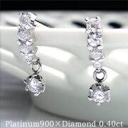プラチナ テンダイヤモンドスウィングピアス ダイヤモンド