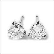 プラチナ ダイヤモンド セッティング カラットスタッドピアス Lugejewelry