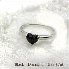 【新作/入荷】K180.65ctUPローズカットブラックダイヤモンドリング(指輪)『大粒約6mmハート』ローズカットハート[Heart・BlagkDiamod]【送料無料】【%OFF】【_包装】【_メッセ】【ブラックダイヤモンド】