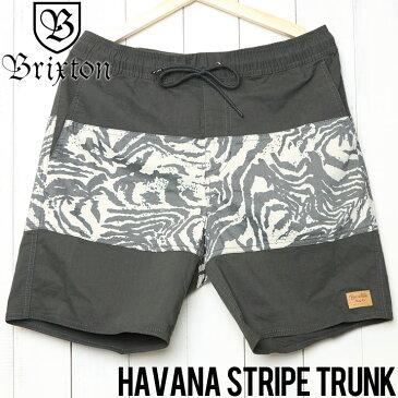 訳あり商品 [クリックポスト対応] BRIXTON ブリクストン HAVANA STRIPE TRUNK ハイブリッドショーツ ボードショーツ 04093 WABKN