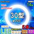 LED 蛍光灯●5個セット●円形型LED蛍光灯【昼光色】30型対応, 高輝度タイプ