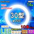 蛍光灯 30形●10個セット●円形型LED蛍光灯昼光色, 30型対応