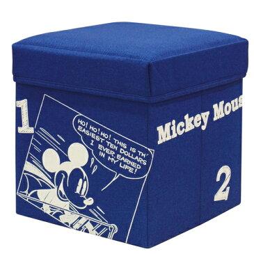 ディズニー 座れる収納ボックス スツール 収納 座れる BOX 収納ボックス フタ付 布製 子供部屋 おもちゃ収納 30W Disney MICKEY MOUSE [ミッキーマウス/ネイビー]BS3030-MC ドウシシャ DOSHISHA