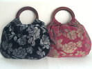 【母の日に♪】花柄フロックオリジナルバッグ上品メタリックプレゼント京都【久世染】