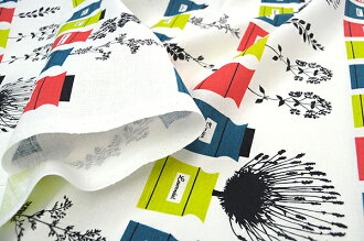 Sample half & half cut cloth almedahls アルメダール perssons kryddskap spy spots 75 x 50 cm Scandinavian fabrics / cloth