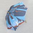 【ルネ・デュー】晴雨兼用傘 cocca コッカ ムーミンコレクション 【 黒い森 BL ブルー 】 日傘