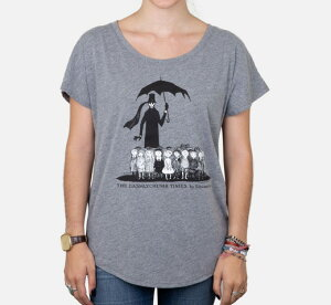 [Out of Print] Edward Gorey / The Gashlycrumb Tinies Relaxed Fit Tee (Heather Grey) (Womens)