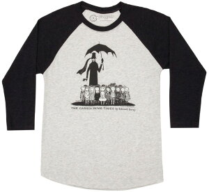 [Out of Print] Edward Gorey / The Gashlycrumb Tinies Raglan Tee (Heather White/Black)