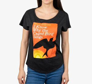 [Out of Print] Maya Angelou / I Know Why the Caged Bird Sings Relaxed Fit Tee (Vintage Black) (Womens)