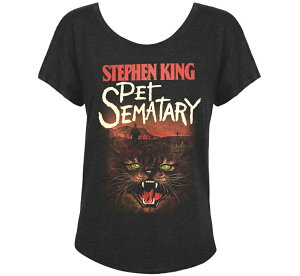 [Out of Print] Stephen King / Pet Sematary Womens Relaxed Fit Tee (Vintage Black)