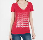 [Out of Print] Literary Terms / Bildungsroman Tee (Red) (Womens)