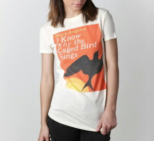 [Out of Print] Maya Angelou / I Know Why the Caged Bird Sings Tee (Ivory) (Womens)