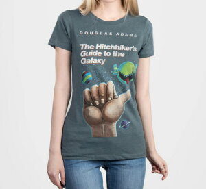 [Out of Print] Douglas Adams / The Hitchhiker's Guide to the Galaxy Tee (Indigo)(Womens)