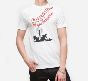 [Out of Print] Maya Angelou / And Still I Rise Tee (White)