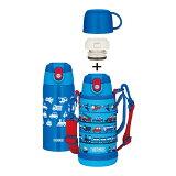 【最短即日出荷】サーモス 真空断熱2ウェイボトル FJA-600WF LB ライトブルー[THERMOS][ストロー/コップ/0.6L/600ml/水筒/保冷/保温/ポーチ付き/子供/キッズ]