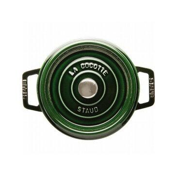 《Staub(ストウブ)》ピコ・ココット ラウンド 10cm バジルグリーン 40509-804◇対象商品3点以上同時購入で送料無料対象品◇