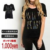 【超目玉】 【ポッキリ価格】【メール便送料無料】【LA直輸入】カラーテキストブラックTシャツ/ロンハーマン RHC Cher ZARA H&M好きにおすすめ/西海岸