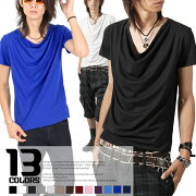 Tシャツ ドレープ イグノア ブラック カットソー ファッション