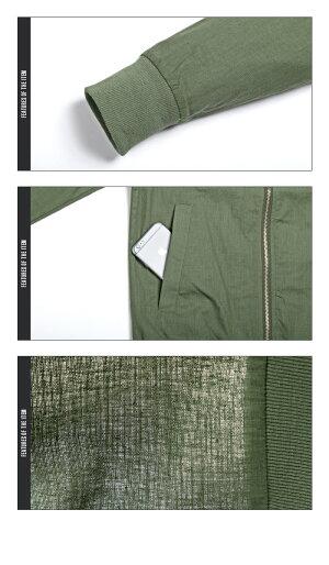 綿麻・MA-1・MA1・メンズ・ジャケット・春・夏・薄手・ファッション