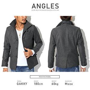 イタリアンカラー・ジャケット・コート・メンズ・秋・冬