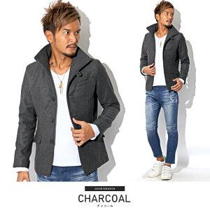 ウインドペン・チェック・イタリアンカラー・ジャケット・コート・メンズ・秋・冬・ファッション