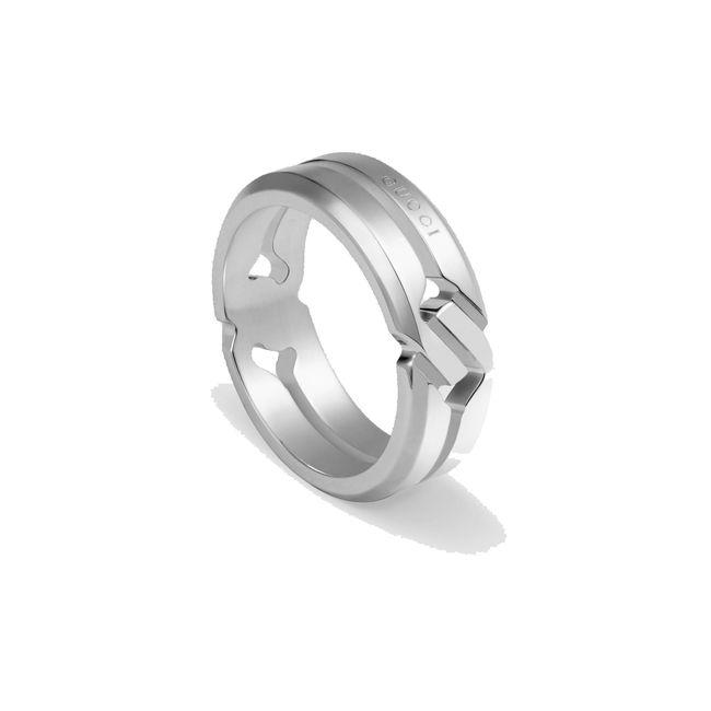 【国内正規品】GUCCIグッチノットリングKNOTRINGシルバーメンズレディースペアリング指輪YBC314011001