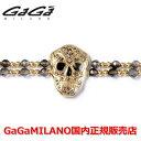 【国内正規品】GaGa MILANO ガガミラノ Men's Ladies/メンズ レディース It Bracelet/ItブレスレットITB SKULL/スカル YG/BRN