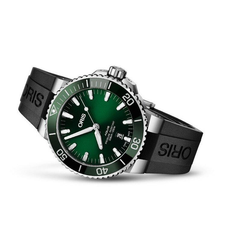 【国内正規品】 ORIS オリス アクイスデイト 43.5mm AQUIS DATE メンズ 腕時計 自動巻き ダイバーズ ラバーベルト グリーン文字盤 緑 01 733 7730 4157-07 4 24 64EB