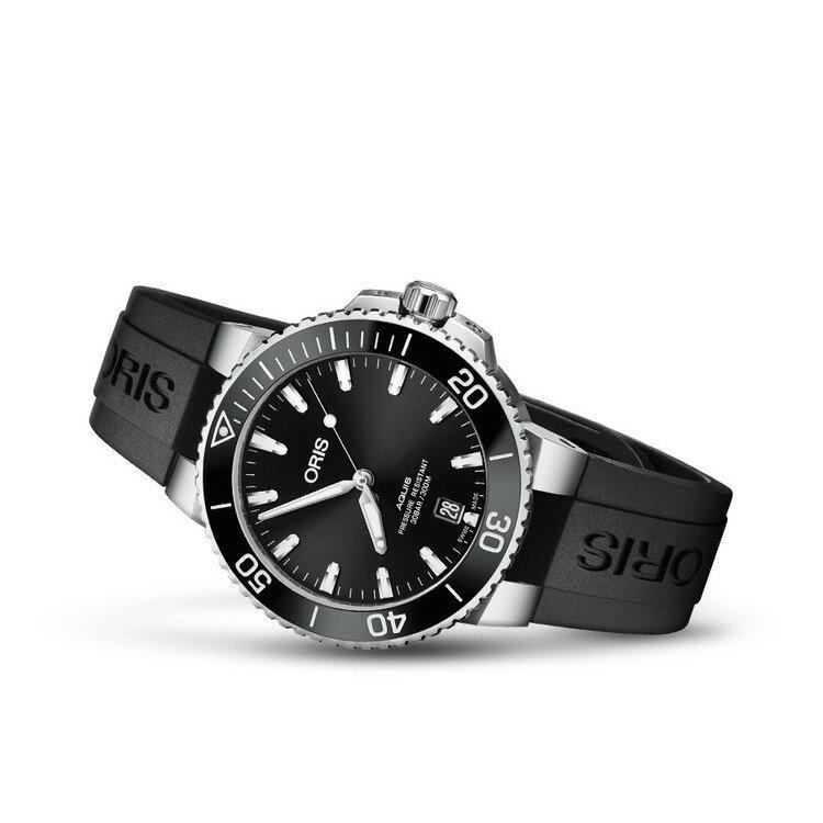 【国内正規品】 ORIS オリス アクイスデイト 39.5mm AQUIS DATE メンズ 腕時計 自動巻き ダイバーズ ラバーベルト ブラック文字盤 黒 01 733 7732 4134-07 4 21 64FC