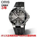 【国内正規品】 ORIS オリス アクイスチタンデイト 43.5mm AQUIS TITAN DATE メンズ 腕時計 自動巻き ダイバーズ ラバーベルト グレー文字盤 01 733 7730 7153-07 4 24 64TEB