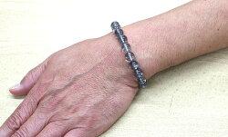 ブラックガーデンファントムクォーツAAAA9~9.5mmUPブレスレット天然石パワーストーンブレス