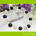 モリオン 黒水晶 タイチンルチルクォーツ ブレスレット 天然石 パワースト...