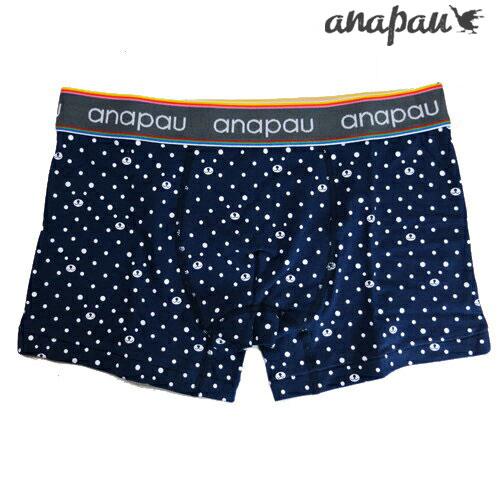 anapau アナパウ クマドット ネイビー ボクサーパンツ メンズ ブランド 正規品 下着 パンツ インナー ローライズ 誕生日 プレゼント ギフト ラッピング 無料 ^^ 父の日ギフト 彼氏 父 男性 旦那 大人